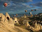 Balloons in Cappadocia.