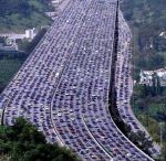 The longest traffic jam in the world, 260km recorded in China.
